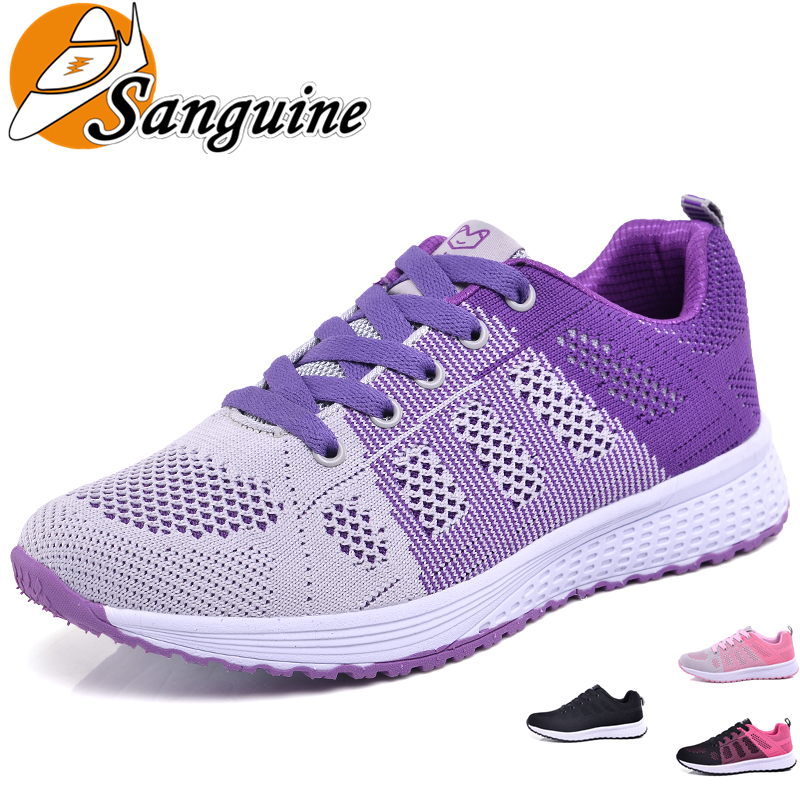 Women Running Shoes Casual Shoes Women Sneakers Outdoor Sport Running Breathable Super Light Flat Shoes Ladies Zapatos De Mujer