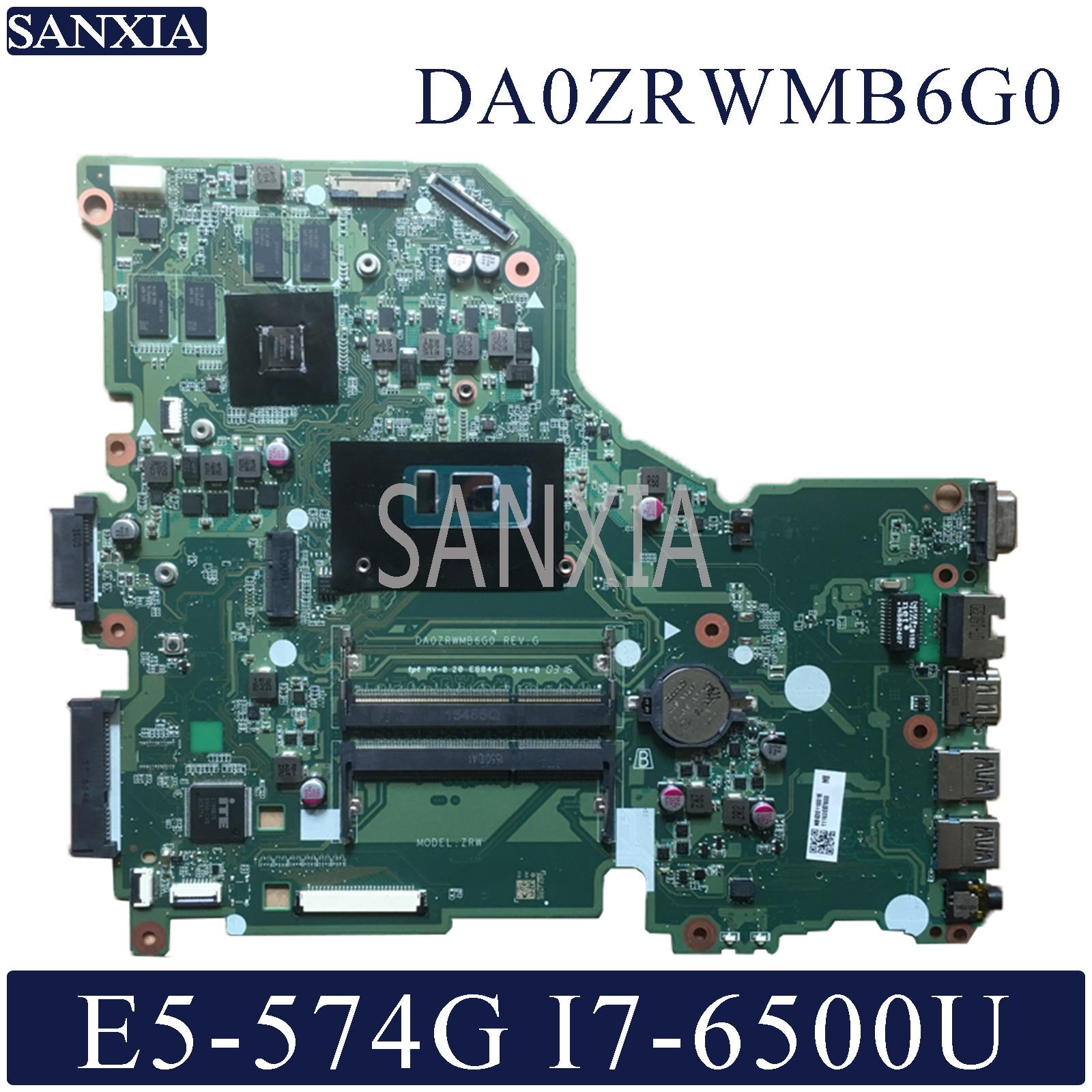 KEFU DA0ZRWMB6G0 Laptop Motherboard For Acer Aspire E5-574G Original Mainboard I7-6500U