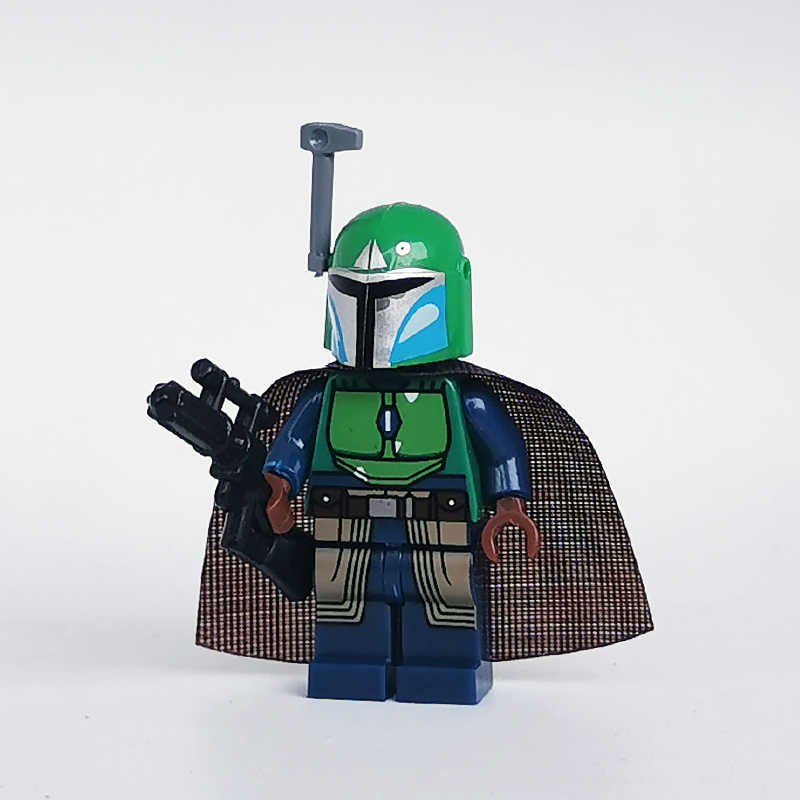 Nuovo Star Wars Mandalorian Battaglia Boba Jango Fett Pacchetto Mini Figure Compatibile 75267 Legoe Blocchi di Costruzione Giocattoli
