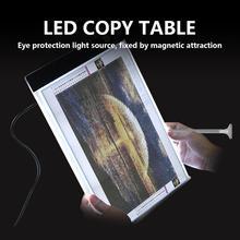A4 podświetlana podkładka LED regulowana jasność światło do malowania diamentowego USB zasilane światło płyta główna do haftu diamentowego 5D tanie tanio Kinbelle CN (pochodzenie) 314786 Z tworzywa sztucznego Nowość Żarówki led HOLIDAY