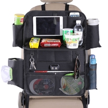 1PCS Car Back Seat Organiser Travel Storage Bag Organizer iPad Pocket Holder with 4USB Charging