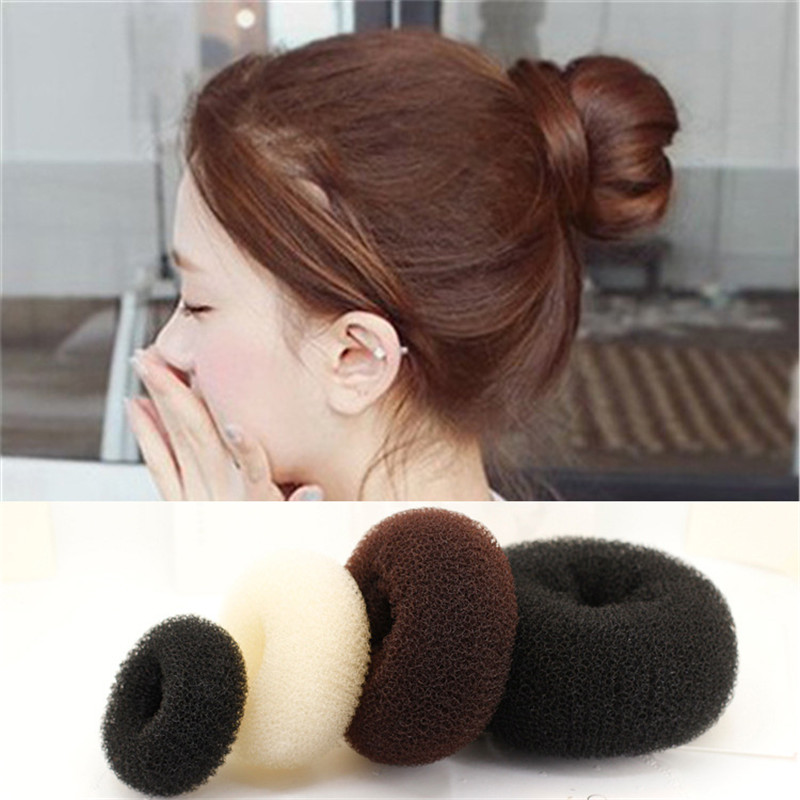 Donuts Hair Accessories 3 Size Hair Styling Ring Style Dispenser Women's Scarf Buckles