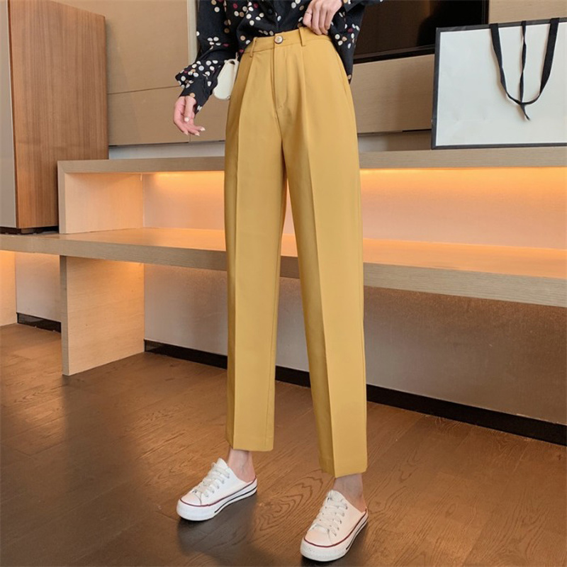 Mazefeng New Casual Solid Women Suit Pants Female Pencil Pant Female Cargo Pants Ankle-Length Autumn 2019 High Quality Simple