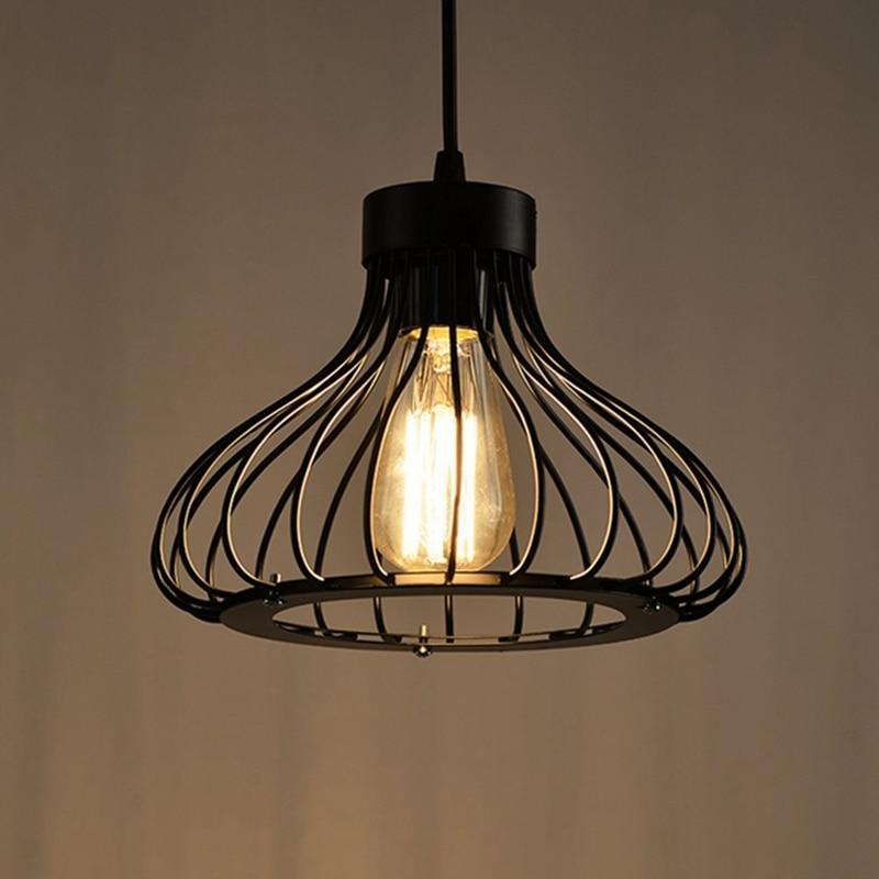 Pendant Lights Vintage Suspensions Luminaire Retro Loft Industrial Hanging Lamp Living Cage Base Fixtures Decor Ceiling Light