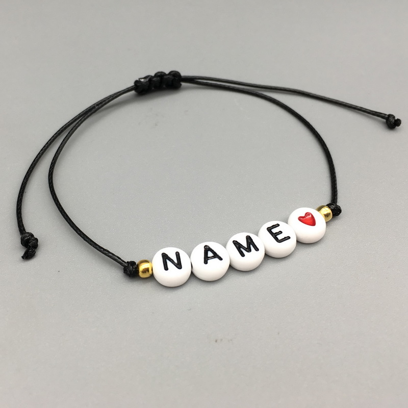 2019 new custom Couple Letter Bead His and Her Bracelet Men Women Rope Adjustable String Name Bracelets DIY Jewelry for GF BF