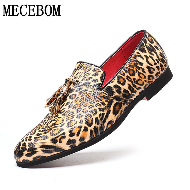 Cheap Men's Loafers Shoes Quality Leather Leopard Driving Shoes Big Size 38-48 Boat Shoes Comfortable Lazy Shoes Moccasin Men  Shoes