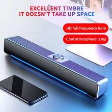 Usb bluetooth alto-falante com fio barra de som do computador com fio e sem fio bluetooth casa surround soundbar para pc teatro tv alto-falante