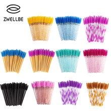 Zwellbe 100 unidades/pacote nova boa qualidade descartável cílios lash olho maquiagem escova mini rímel varinhas escova cílios extensão ferramenta