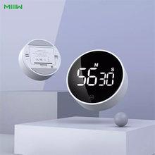 Youpin miiiw rotativa temporizador brilho ajustável magnético led display digital portátil simples cozinha cozinhar despertador