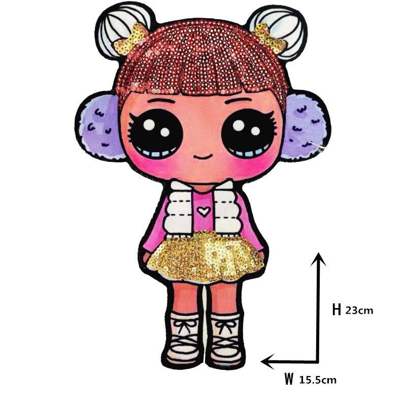 Мультяшные нашивки женские модные куклы лол для девочек Милая Модная Кукла-мальчик вышивка на одежду ручная работа украшение одежды Блестки Ткань - Цвет: WW-33