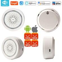 Wi fi usb sirene alarme wi fi casa sirene alarme sensor aplicativo notificação alertas, sem hub necessário, plug and play, alexa eco casa do google