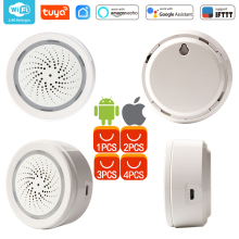 WiFi USB Siren Alarm WiFi Home Siren Alarm Sensor App Notification Alerts,No Hub Required,Plug And Play,Alexa Echo Google Home