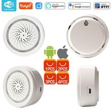 WiFi USB Siren alarmı WiFi ev Siren alarmı sensörü App bildirim uyarıları, hiçbir Hub gerekli, tak ve çalıştır, alexa Echo Google ev