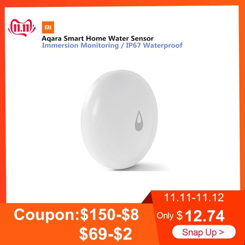 Original Aqara Home Water Sensor IP67 Waterproof Immersing Sensor Remote Alarm Work With Xiaomi Mi Home Smart Home
