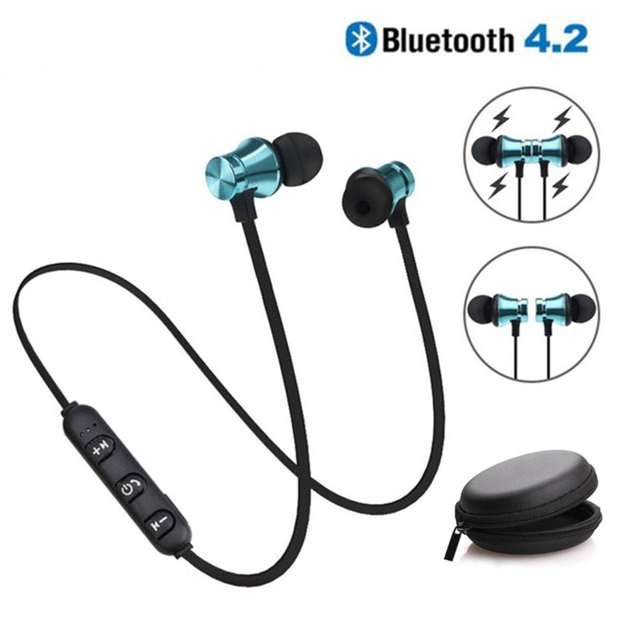 Magnetic Wireless Bluetooth Earphone XT11 Music Headset Phone Neckband Sport Earbuds Earphone With Mic For IPhone Samsung