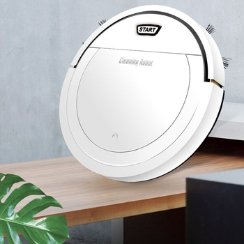 Robot Vacuum Cleaner 1800PA Poweful Suction 3In1 Pet Hair Home Dry Wet Mopping Cleaning Robot Auto Charge Vacuum Mini