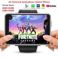 DM100 4G schermo da 2.86 pollici Smart Watch Phone Android 7.1 3GB 32GB 5MP fotocamera 480*640 risoluzione 2700mah batteria Smartwatch uomo