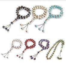 Kostenloser versand Muslimischen armband Gebet Perlen Runde Perle Tesbih Allah Rosenkranz Islamischen Tasbeeh Schriften Tasby Anbetung Liefert