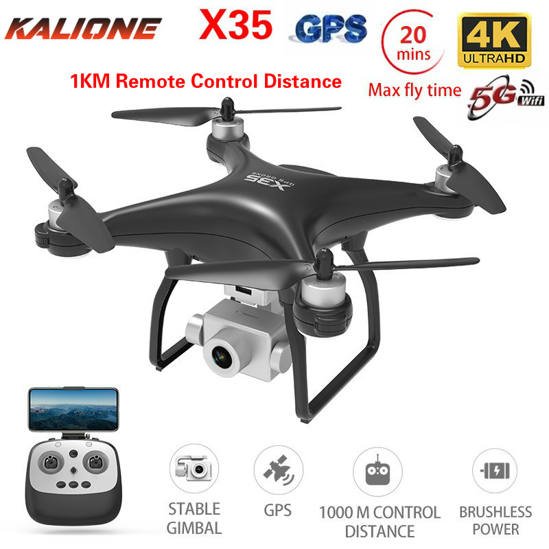 X35 RC Quadcopter Drone 4K Profissional GPS drones With camera HD Gimbal FPV 5G WIFI 1KM Flight distance Dron VS K777 sg906 pro image