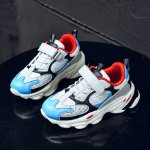 New Cool Big Boy Running Shoes Luxury Brand Young Casual Footwear Thick Soled Kids Flat Sneakers Jogging Boys
