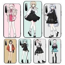 Anime Girl cute Cartoon Japan Phone Case For Samsung S note S10E 6 7 8 9 10 20 plus edge lite Cover Fundas Coque