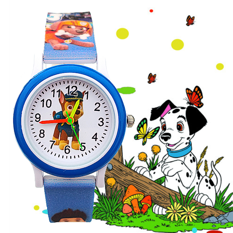 Top Sell Plastic Kids Watches 3D Dog Clock Children Cruising Puppy Child Watch For Girls Boys Students Christmas Gift Kol Saati