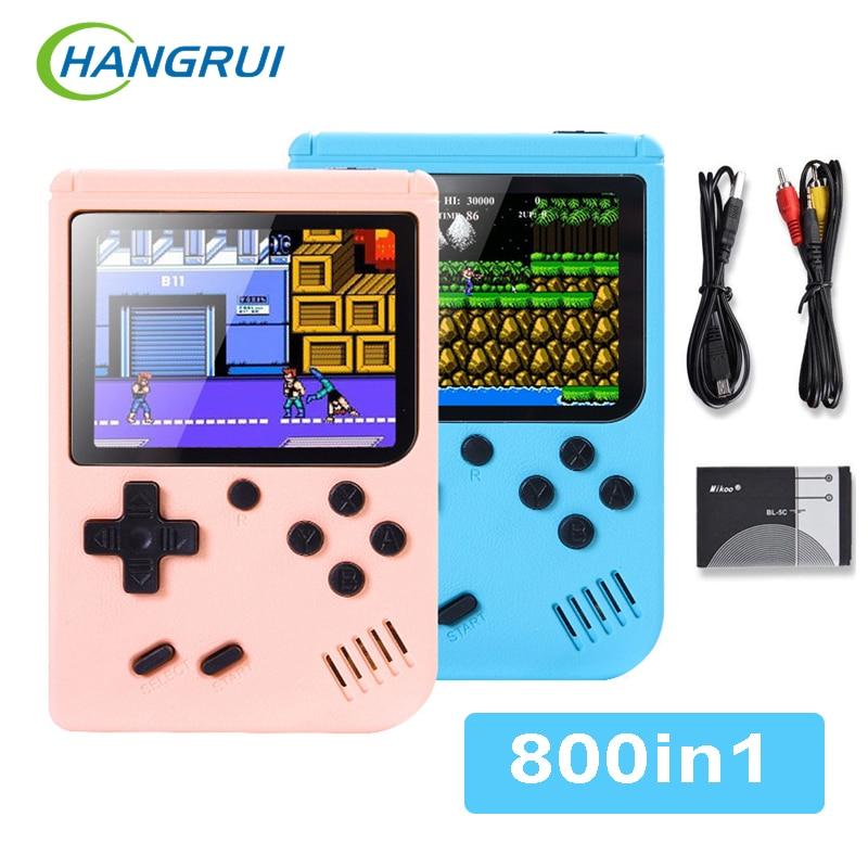 Console de jeu vidéo rétro Portable 800-en-1, avec écran LCD, pour enfants