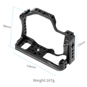 Image 4 - CNC Aluminum Camera Cage for Canon EOS M50 / M5 DSLR Case Cold shoe Mount Expansion Cover Quick Rease Plate Support Photography