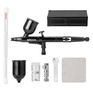 Image 3 - KKmoon pistola pulverizadora multiusos, juego de aerógrafo de doble acción con alimentación por gravedad, pistola pulverizadora de gatillo de 8cc para arte artesanal, pulverización de pintura