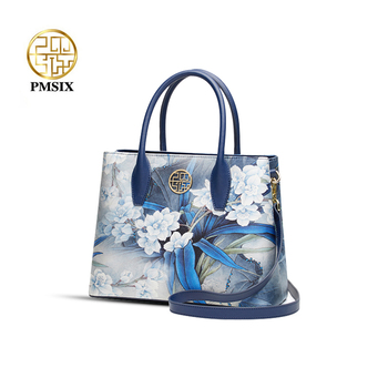PMSIX Printing Women HandBags Real Silk Stylish Shoulder Bag  Female Tote Luxury Crossbody Bags Fashion Brand 2020