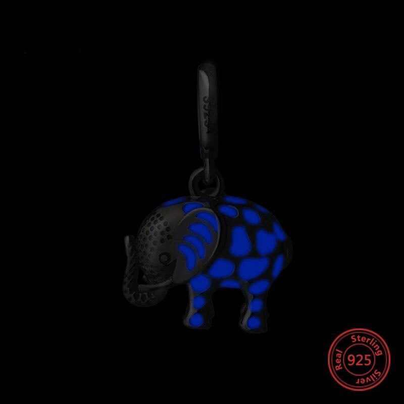 Hot salce pandora elephant enamel charms fit Authentic bracelet pandora 925 Sterling silver beads for jewelry making Accessories in Beads from Jewelry Accessories