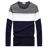 Belbello 2019 Men's Autumn Clothes Trend T shirt Fashion Menswear New pattern Long sleeves Pure cotton Man T shirt