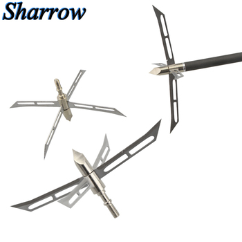 3/6/12pcs Hunting Arrowhead Sharp Arrow Broadhead Stainless Steel Removable blade Point Tips Hunting Compound Bow Crossbow 3 6 12pcs 100gr archery blade arrowhead stainless steel broadheads target arrow point tips hunting shooting accessories