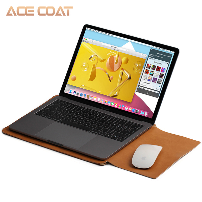 Image 5 - ACECOAT Microfiber PU Leather Sleeve Protector Bags for Macbook Air Pro Retina13 12 15 16 Laptop Sleeve Business No Zippercovers for maclaptop coverbag for macbook air -