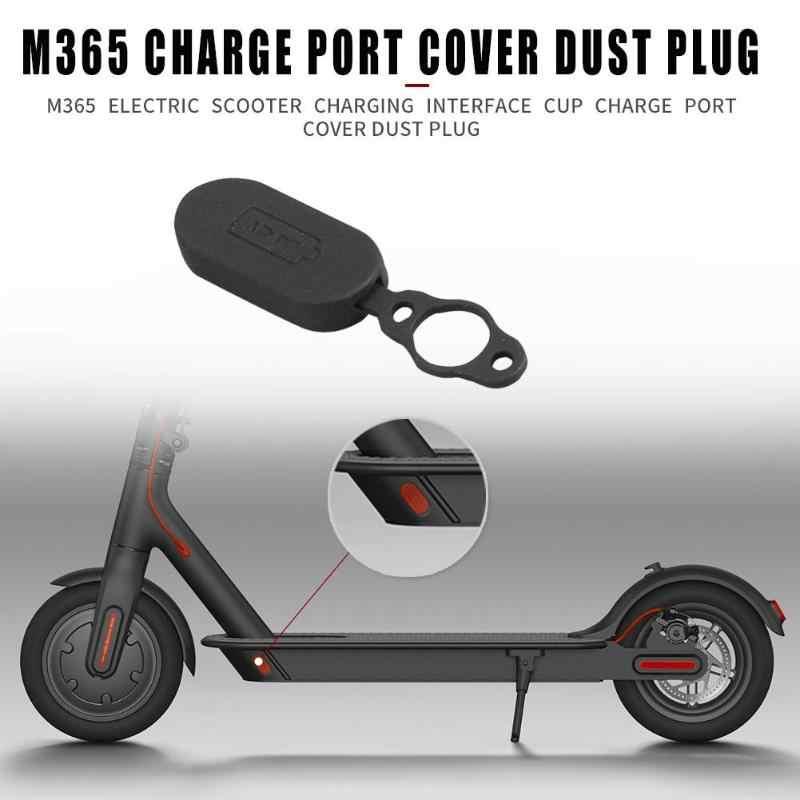 Couvercle de Port de Charge en caoutchouc bouchon anti-poussière bouchon en Silicone partie de cyclisme pour accessoires de Scooter électrique XIAOMI M365
