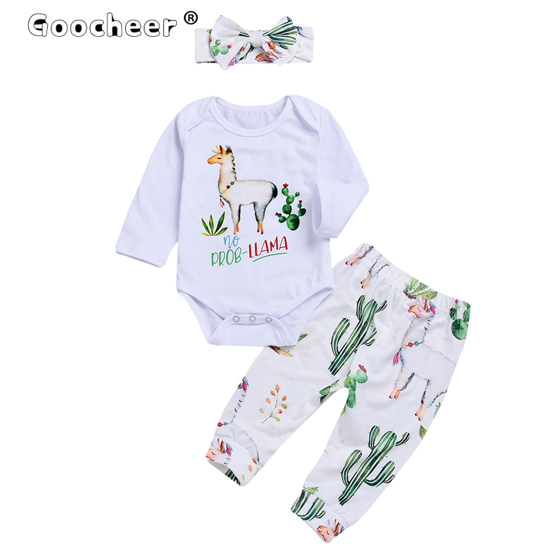 2020 Autumn Winter New Newborn Baby Girl Sleeper Clothes Set Long Sleeve Romper Tops+ Pants Leggings Pajamas Set 1
