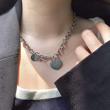 Милый ожерелья с фигуркой сердца для женщин простой заявление