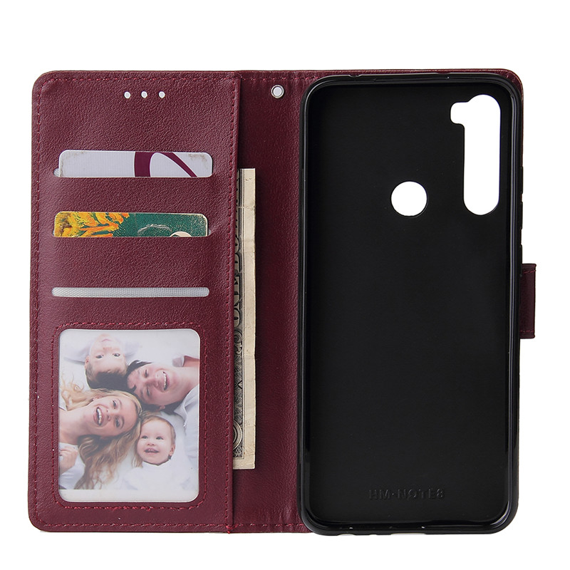 Leather Wallet Case Flip Cover for Xiaomi Redmi Note 8 7 6 5 4 Pro 8A7A 6A 5A 4X 5X 5 Plus Protect Cover 3