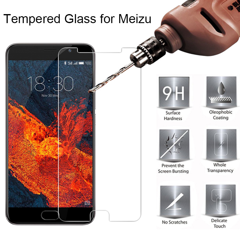 Tempered Glass For Meizu M6T M6S M6 Note 9H HD Toughed Hard Protective Glass For Meizu M5 Note M5S M5C M3S M3 M2 Phone Film