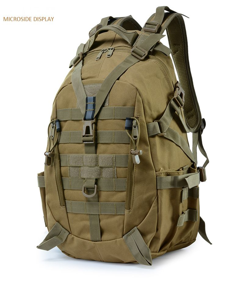 Military Backpack Molle 900D Oxford Tactical Men Hiking Bag Outdoor Camping Travel Waterproof Camouflage Sport Bags 25L