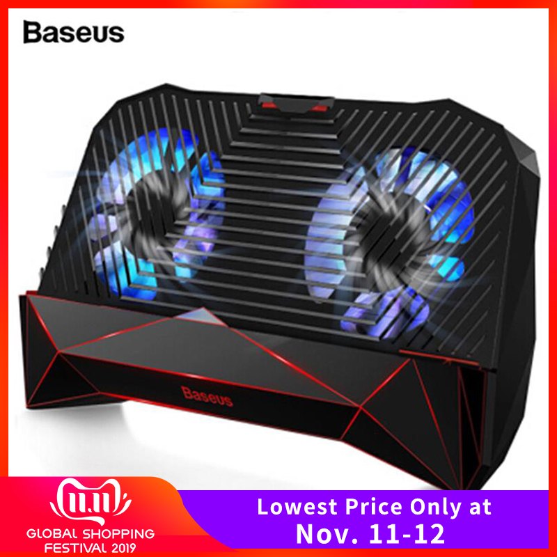 Baseus Mobile Phone Cooler For IPhone Xs Samsung S10 Huawei P30 Pro Game Phone Holder Stand Heat Sink Cooling Gamepad Controller