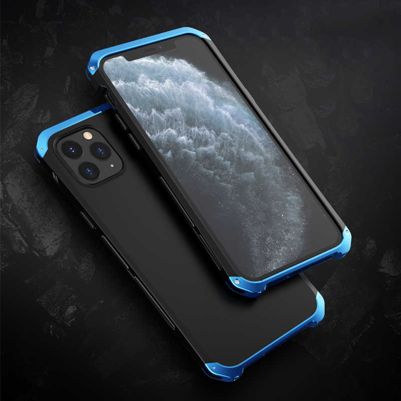 Aluminum Metal & Hard PC Case For Apple iPhone 11/ Pro/ Max Luxury Ultra Thin Shockproof Protection Case Cover For iPhone 11 Pro