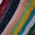 Бусины из хрусталя BEAUCHAMP 4*3 мм, Круглые граненые фарфоровые Подвески, фурнитура для ожерелий, сережек, браслетов, аксессуаров