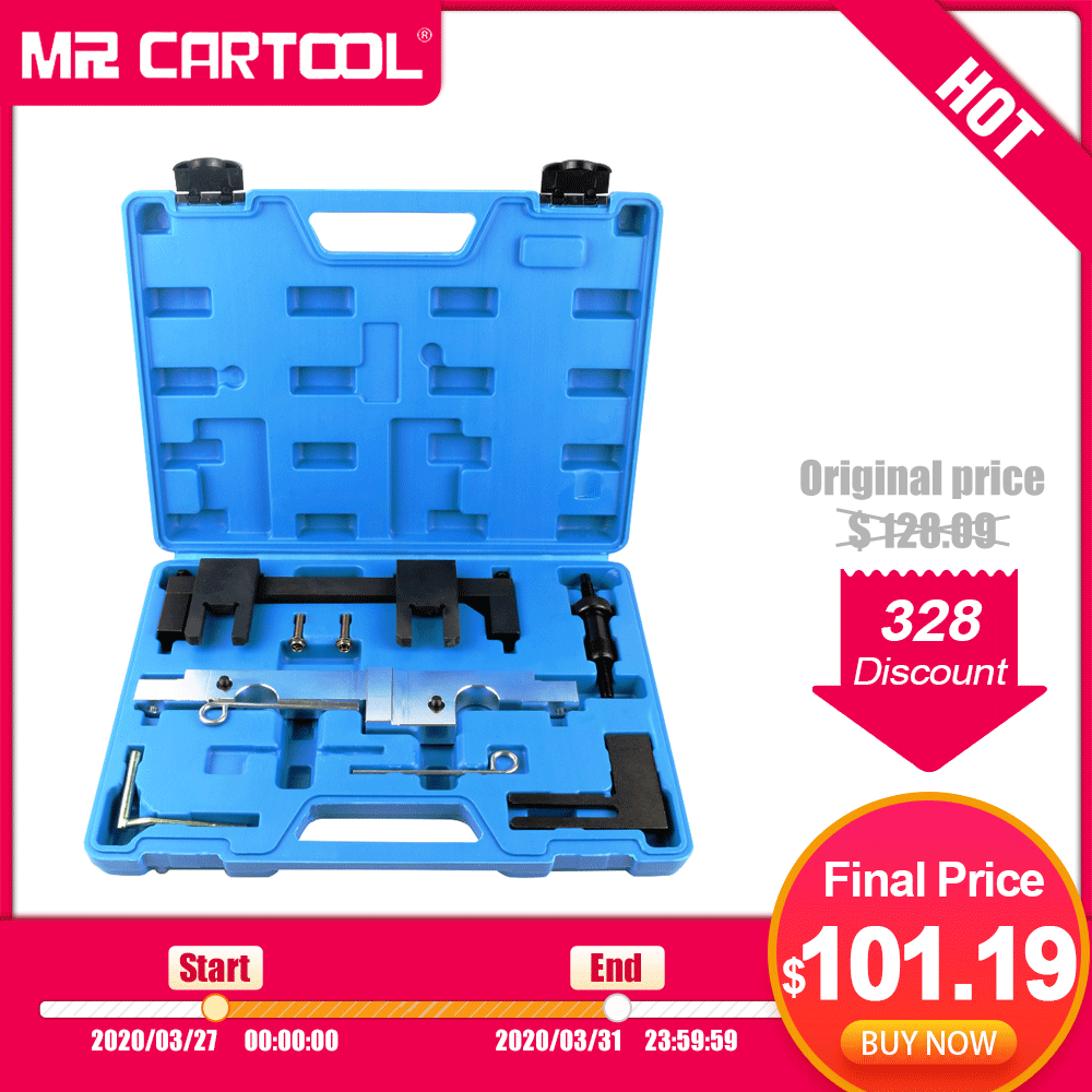 MR CARTOOL 7Pcs Car Timing Tool Engine Camshaft Locking Timing Tools Set Kit For BMW N43 1.6 2.0 E81 E82 E87 E88 E90 E91 E92 E93