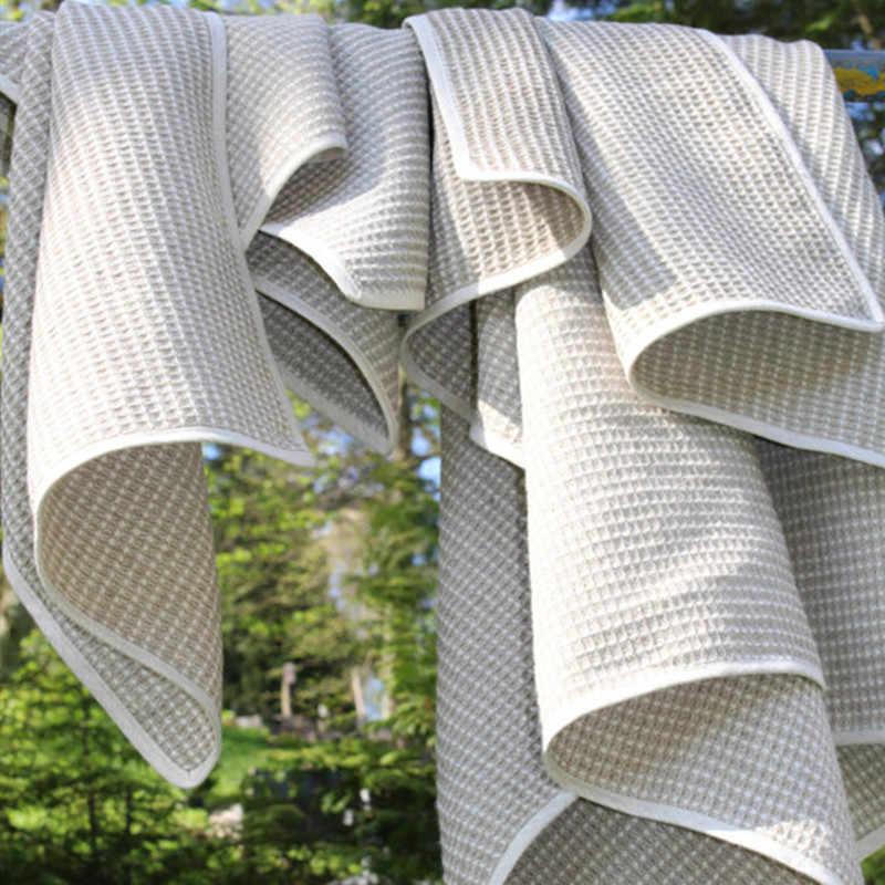 ผ้าลินินบริสุทธิ์ 100% คู่ชั้นเด็กผ้าห่มน้ำ Absorption Breathable เด็กผ้าคลุมไหล่ผ้าห่มผ้าลินินผ้าเช็ดตัวเกี่ยวกับการขาย