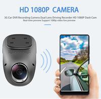 Car Dash Cam DVR Recording Camera 1080P HD Quad Core Dual Lens Driving Recorder GPS G Sensor For Android APP Multimedia Player