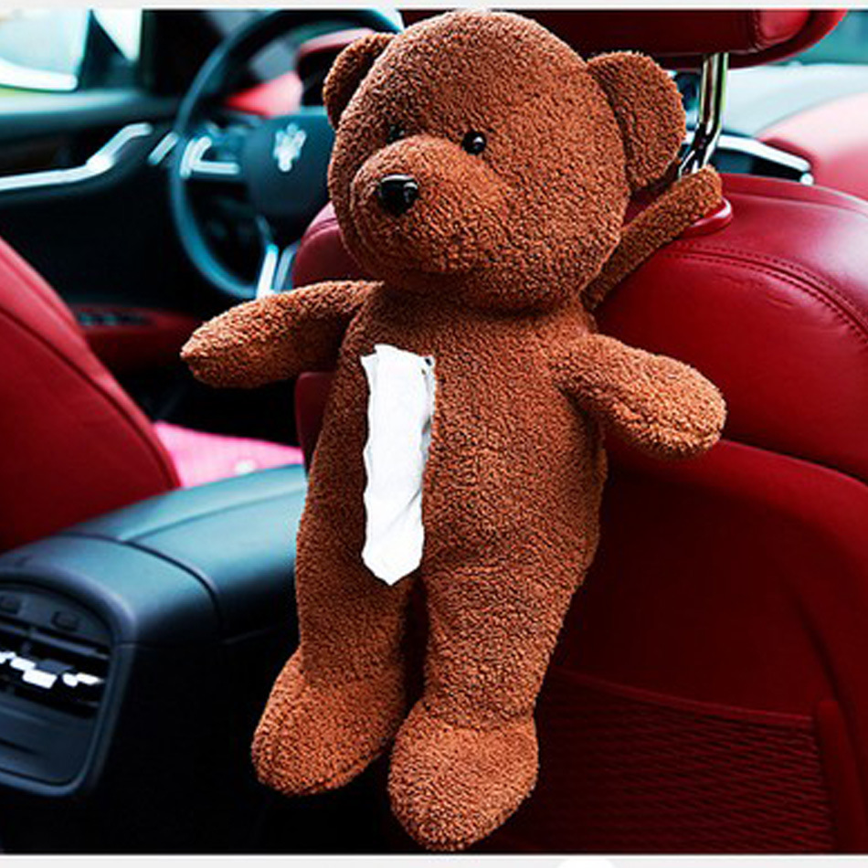 Car Tissue Box Cute Creative Multifunctional Design Plush Dolls Teddy Bear Cartoon Animals Fashion Automotive Supplies Wholesale