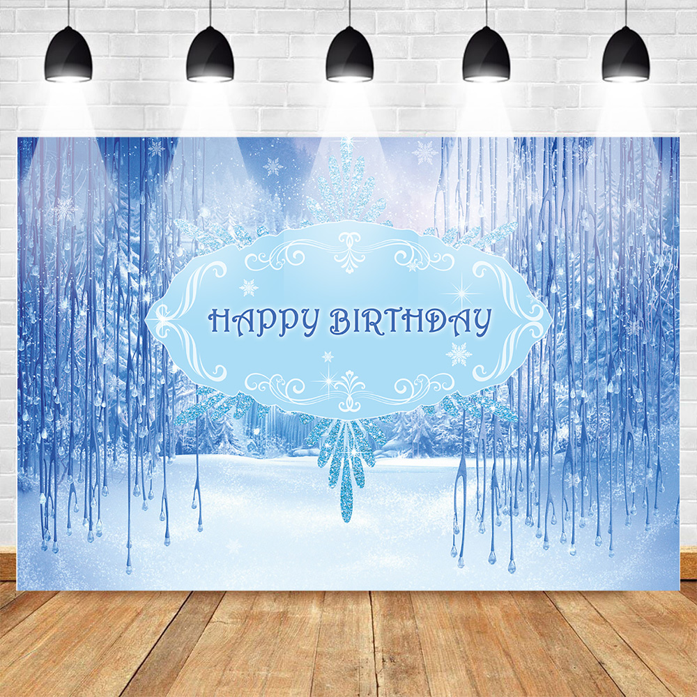 Fantastic Neoback Birthday Party Winter Onederland Photography Backdrop Funny Birthday Cards Online Overcheapnameinfo