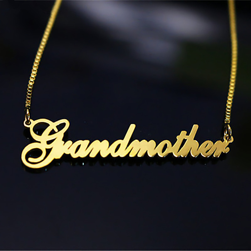 <font><b>BFF</b></font> Personalized Name Long Necklace Women Men Jewelry Box Chain Custom Nameplate Collier Gold <font><b>Ketting</b></font> Old English Style image
