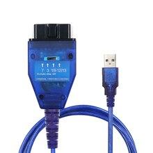 цена на Free Shipping FT232RLChip USB Cable KKL VAG-COM 409.1 OBD2 OBDII Diagnostic Scanner For VW Audi Seat Skoda